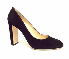New JIMMY CHOO Size 11 LARIA Black Suede Almond Toe Heels Pumps Shoes 42