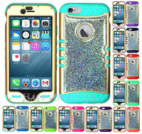 For Apple iPhone - KoolKase Hybrid Silicone Cover Case - GD/Glitter 01