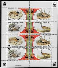 PALESTINE Sc 150 NH MINISHEET of 2001 - WWF - BIRDS