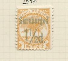 1895  2d Surcharged 1½ d Mint Hinged as per Scan