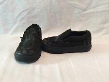 Vans Off The Wall Toddler Boys Black/grey Star Wars Darth Vader Shoes~size 5 C