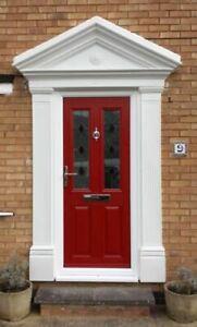 Victorian Style Odysseus GRP (Fibreglass) Complete Door Surround Pilasters