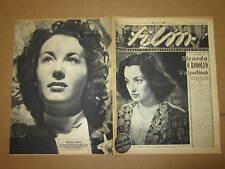 FILM RIVISTA DI CINEMA TEATRO E RADIO ANNO 1943 N°15 DURANTI RODOLFO VALENTINO