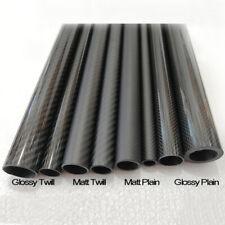 3k Carbon Fiber Tube 20mm 21mm 22mm 23mm 24mm 25mm 26mm 27mm 28mm 29mm 30mm x500