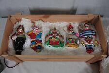 Polonaise By Komozja Circus Gp545 Handblown Glass Ornaments Boxed Set New
