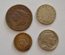 LOTTO 4 MONETE STATI UNITI 1 5 CENT 1837 UNITED STATES NUMISMATICA SUBALPINA