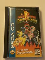 🔥 POWER RANGERS  (Sega CD, 1993) MIB - TESTED & WORKS 💯 COMPLETE GAME 🔥