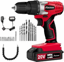 20V Lithium Ion Cordless Drill Power Drill Set Variable Speed Drill combo set!!