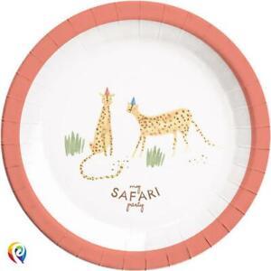 SAFARI ANIMALS Birthday Party paper plates procos jungle theme supplies PAR9897