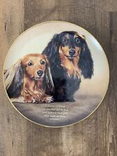 Danbury Mint Dachshund Dog Collector Plate Heart Of Gold Limited Edition