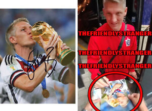 "BASTIAN SCHWEINSTEIGER signed ""GERMANY"" 8X10 PHOTO - EXACT PROOF - World Cup COA"