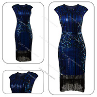 Gatsby 1920s Flapper Dress Vintage Clubwear Sequin Party Costume Deco 20s Beaded
