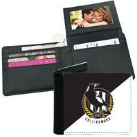 AFL Mens Wallet - Collingwood Magpies - 12x10cm Fits 10 Card + Notes