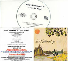 ALBERT HAMMOND JR Yours To Keep UK 10-trk numbered/watermarked promo test CD