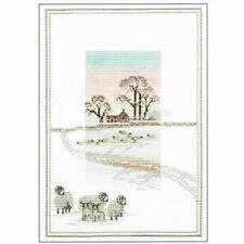 Derwentwater Designs Misty Mornings Cross Stitch Kit - Snowy Sheep