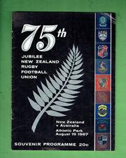 #MM. NEW ZEALAND V AUSTRALIA  RUGBY UNION PROGRAM 19th August 1967
