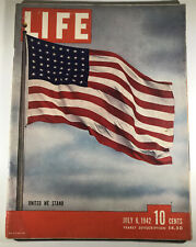 VINTAGE LIFE MAGAZINE    United We Stand      July 6, 1942