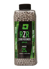 Airsoft Nuprol RZR BBs 0.25g BBs 3300rnd 6MM PLASTIC ball bearing WE DOMINATE