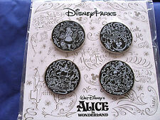 Disney Parks * ALICE IN WONDERLAND - CHALKBOARD SKETCH * NEW 4 pin BOOSTER Set