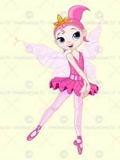 Vivaio Fata Ballerina Ballerina Rosa Tutu Ali Bambini Camera Da Letto ARTE POSTER mp4261b