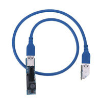 USB3.0 PCIe PCI-Express 1X Riser Card Right Angle Extension Flexible Cord
