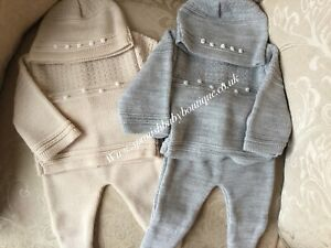 Spanish baby knit set 1 month or 3-6 months romany