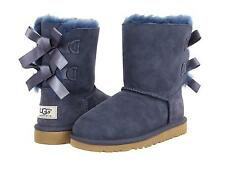 UGG AUSTRALIA GIRLS KIDS BOOTS BAILEY BOW CLASSIC NAVY BLUE SIZE 3 NEW