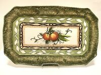 "Fitz and Floyd Vista Bella Serving Platter Tray 19"" Tomatoes Cabbage Vegetables"