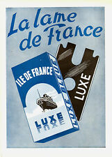 1945 : ILE DE FRANCE Razor Blades - French Ad
