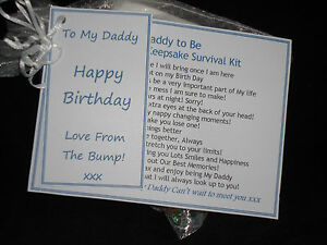 Dad /Daddy to Be Birthday Gift Card Fathers Day Present from The Bump Mum to Be
