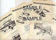 1961 1962 1963 1964 1965 1966 1967 FALCON ECONOLINE TRUCK PARTS CRASH SHEETS MRE