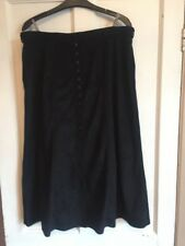 """Ladies Black Vintage A-Line Skirt from C&A says a 20 but waist is 34"""" So a 14"""
