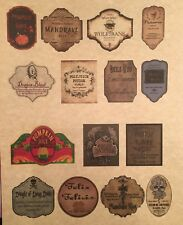 """LABELS ONLY Small Apothecary Potion Bottles Harry Potter Party Prop 2"""" Tall"""
