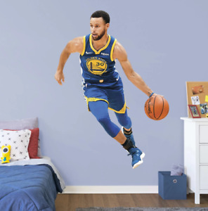 Stephen Curry Fathead NBA Golden State Warriors Life Size Wall Decal Decor Steph
