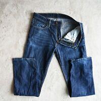 Mens LEVIS 505 Jeans Straight Leg Zip Fly Denim Regular Stretch Size W32 Leg 32
