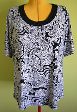 Ladies Womens Short Sleeve Round Neck T-Shirt Blouse Shirt Top Millers Size 18