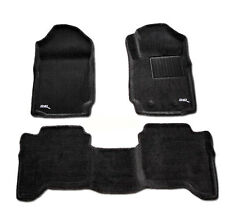 To Suit Ford Ranger PX PX2 Dual Cab - 3D Black CARPET Car Floor Mats 2011 - 2018