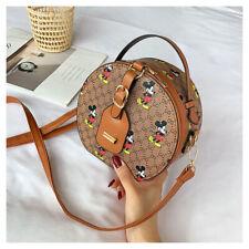 Womens Girls Mickey Mouse Shoulder Tote Cross Body Small Purse Bag Round Handbag