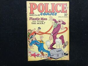 Police Comics #88 March 1949 Plastic Man FREE SHIPPING
