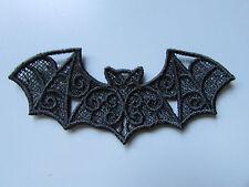 Negro Bordado Bat Apliques sewing/costume/crafts / Victoriano (cualquier Color)