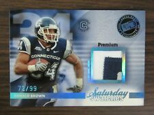 2009 Press Pass Legends Saturday Swatches #SSWDB Donald Brown Jersey Card