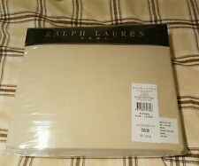 Ralph Lauren Home 100% Cotton NATURAL Fitted Bed Sheet KING SIZE 160x200 Cm