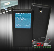Open Window Flip Leather 2 Cases Cover Protection For Galaxy Note 3 Iii Black