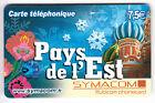 FRANCE TELECARTE / PHONECARD PREPAYEE .. 7€50 SYMACOM PAYS DE L'EST 12/10 +N°