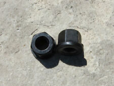 """BMX Black axle nuts with flange for 3/8"""" Bicycle Axle, 28T"""