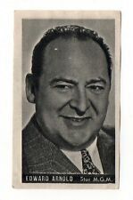 Edward Arnold 1947 Kwatta Film Stars Belgium Chocolate Card #55