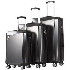 3 Piece Luggage Set Travel Bag ABS Trolley Spinner Suitcase TSA Lock Gray Color
