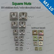 Square Nuts Stainless Steel Amp Square Thin Nuts Color Zinc M3 M4 M5 M6 M8 M10