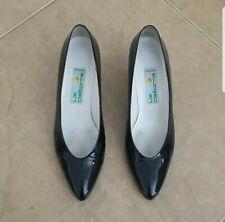 Vintage Liz Claiborne Shinny Black Heels Size 9.5