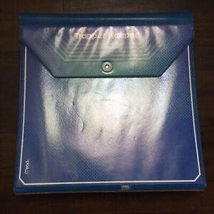 2013 Mead Trapper Keeper 3 Ring Binder Notebook Holder Folder Blue Teal